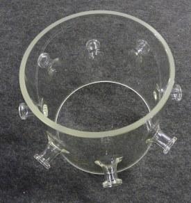 Vacuümreactor dia 215 met 8 vacuümflenzen DN16.
