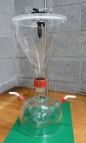 Dust cloud generator in verbeterde versie. Met Rodavis slijpstukken en schroefdraadverbinding.