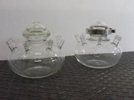 Ovale reactoren in opdracht van Etoile Mécanique. Deel van een kunstwerk.