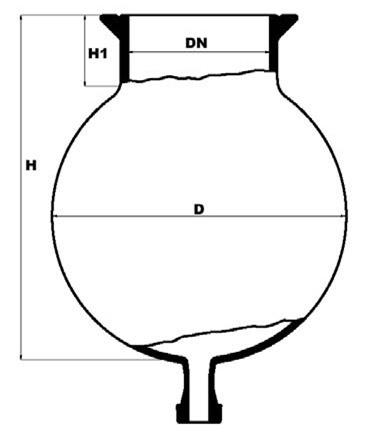 Reactiekolf met bodemflens