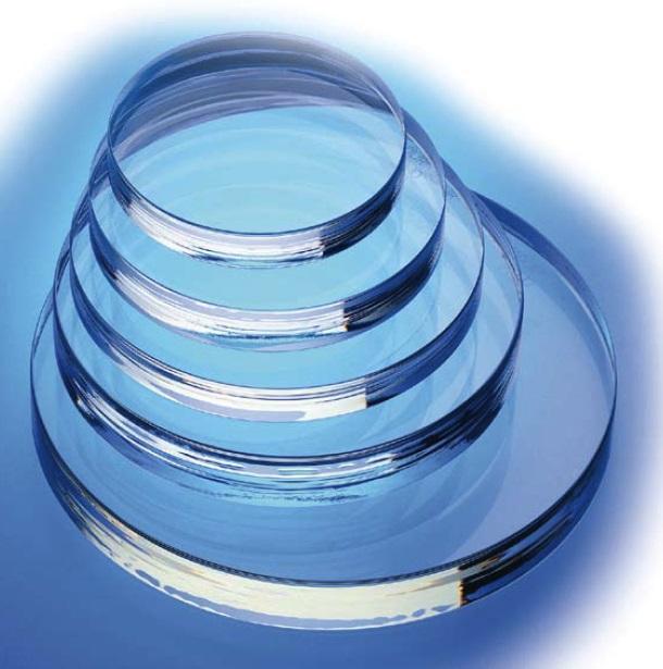 Rond kijkglas in gehard borosilicaatglas volgens DIN 7080