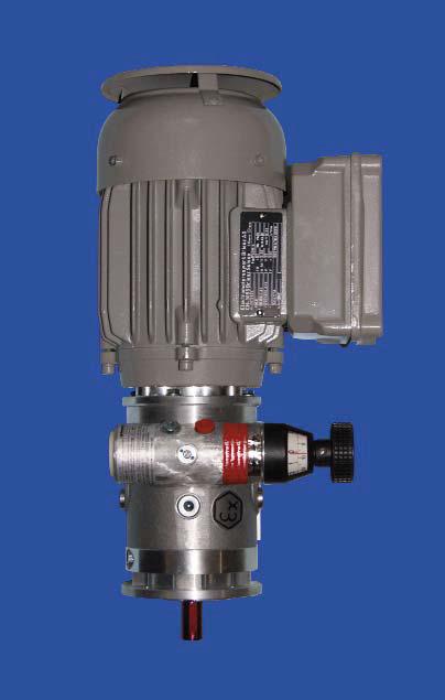 Elektrische roermotor voor reactoren met motorreductor