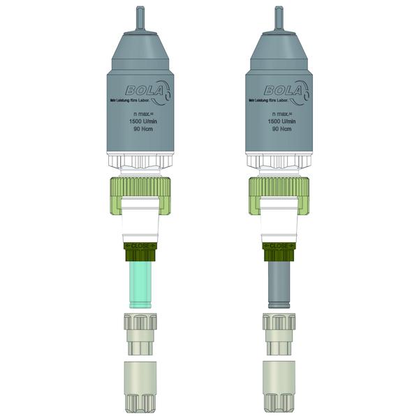 BOLA Magneetroerkoppeling (P-MRK), PTFE, borosilikaatglas